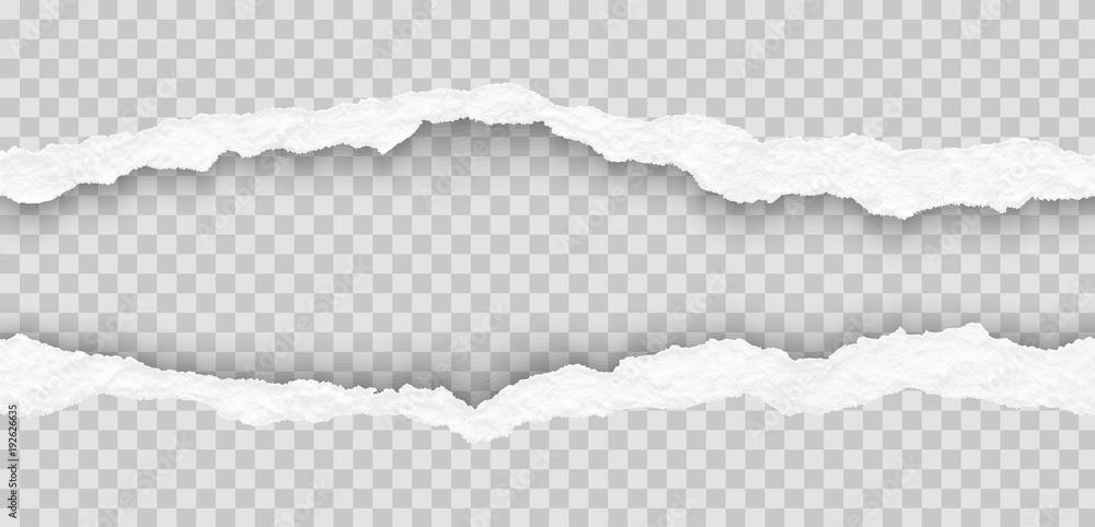 Fototapety, obrazy: seamless torn paper edges, vector illustration