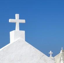White Crosses In Historic Ceme...