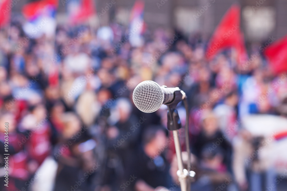 Fototapety, obrazy: Protest. Public demonstration. Political rally.