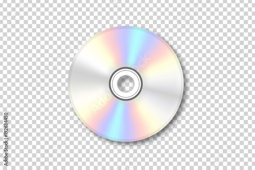 Fototapeta Vector realistic isolated disk for decoration and covering on the transparent background
