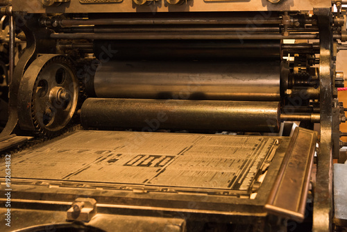 Fototapeta old printing press