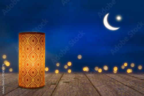 Fotografía  orientalische lampe im mondschein