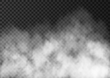 White Smoke Texture Isolated O...