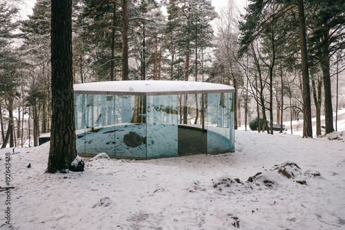 Beautiful pavillion in the Ekeber Park in Oslo, Norway Poster