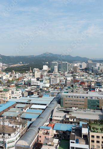 Canvas Prints Antwerp Blick auf Seoul, Korea.