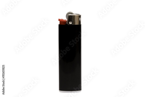 Black lighter isolated on white background, with clipping path Wallpaper Mural