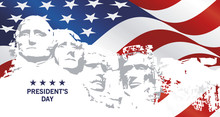 Presidents Day Rushmore USA Fl...