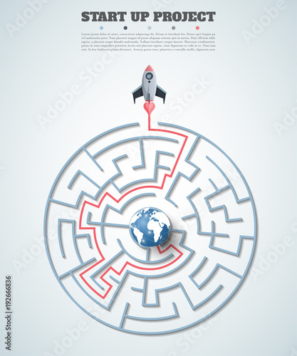 Business data visualization Wallpaper Mural