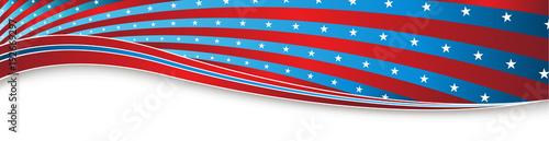 Fotografia  Indepedence Day Fourth of July USA Banner