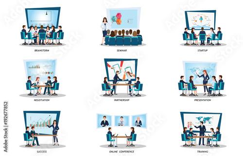 Obraz Business people of meeting or teamwork, - fototapety do salonu