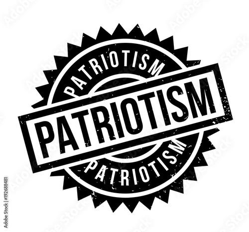 Patriotism rubber stamp Canvas Print