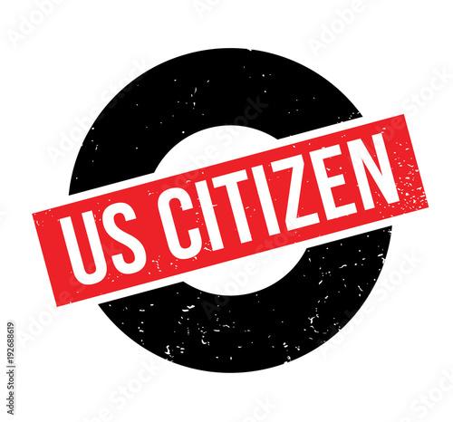 Photo Us Citizen rubber stamp
