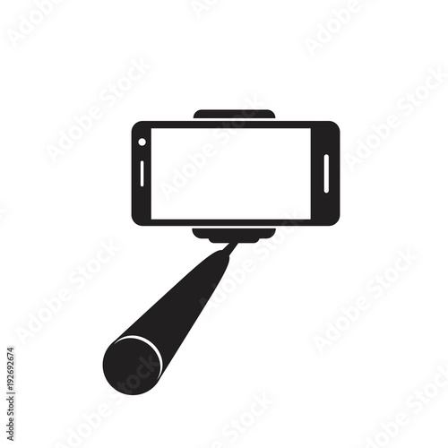 Fototapeta Selfie stick icon. Vector concept illustration for design. obraz