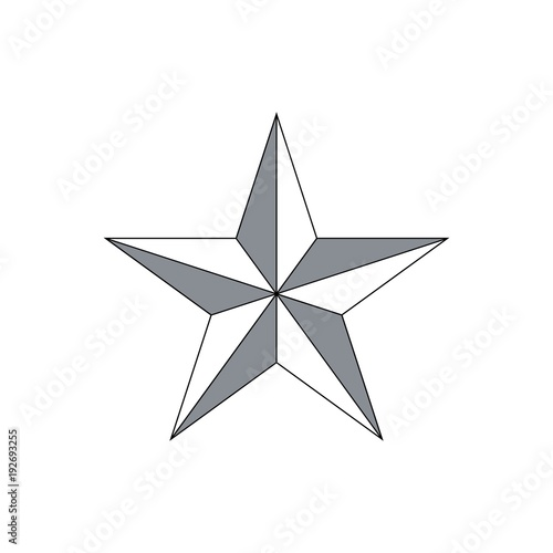 Vector Star icon Wall mural