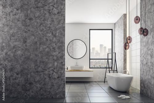 Cuadros en Lienzo Contemporary bathroom with blank banner