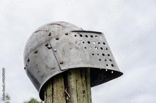 Iron helmet of a medieval knight Wallpaper Mural