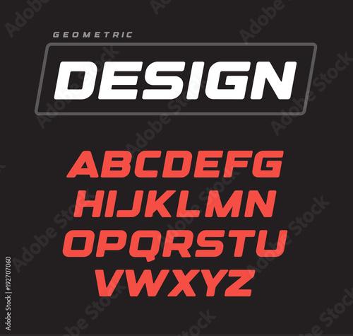 Fotografía  Italic bold geometric alphabet design