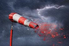 Storm, Lightning, Windsock And...
