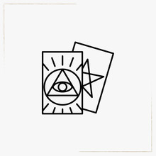 Tarot Cards Line Icon