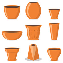 Flower Pots Of Different Types...