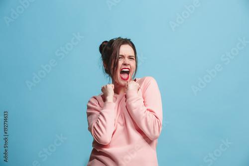 Fotomural  Winning success woman happy ecstatic celebrating being a winner