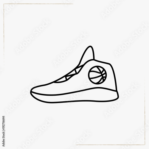 cda7efd5d8d basketball shoes line icon - Buy this stock vector and explore ...