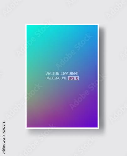 Obraz Creative design poster with vibrant gradients. - fototapety do salonu