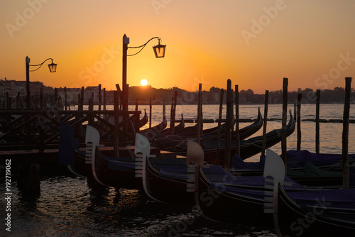 City on the water Sunrise in Venice. Italy