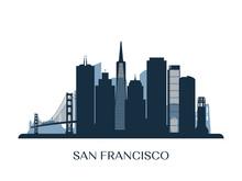 San Francisco Skyline, Monochr...