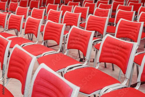 Papiers peints Opera, Theatre empty red seats