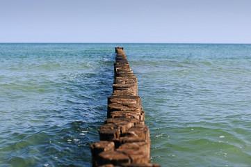 Fototapeta Morze Ocean Waves and View at Baltic Sea