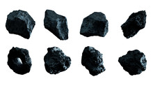 Dark Rock Asteroid Pack 3D Ren...