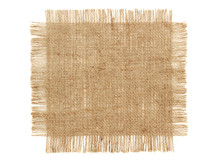 Sackcloth Patch Isolated On Wh...