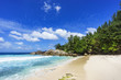 Beautiful tropical beach,palms,white sand,granite rocks,seychelles 18