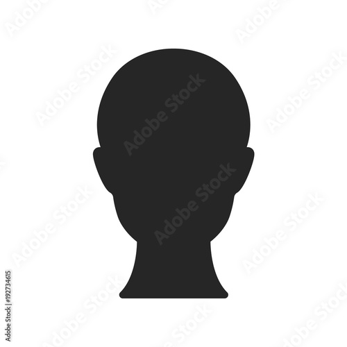 Obraz Human head isolated on white background. Vector stock.  - fototapety do salonu