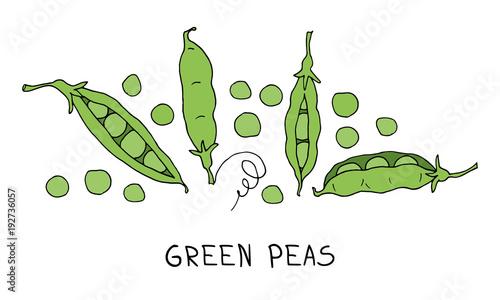 Fototapeta green peas obraz