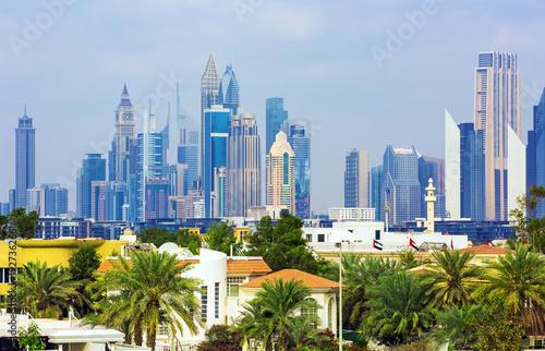 Canvas Prints Kuala Lumpur Residental area and financial center of Dubai city,United Arab Emirates