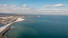 Aerial View Of A Coastal New E...