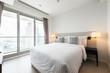 Modern bedroom in luxury apartment