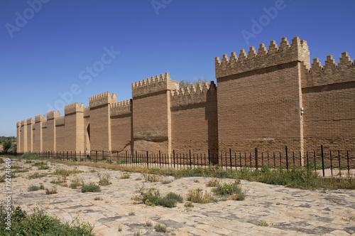 Fotografía Restored ruins of ancient Babylon, Iraq