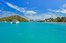 Catamaran On Turquoise Sea Nea...