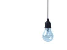 Hanging Light Bulb Isolated On...