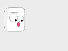 Marshmallow Cartoon With Big S...