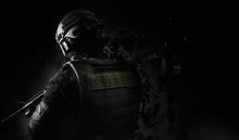 Black And White Swat Soldier B...