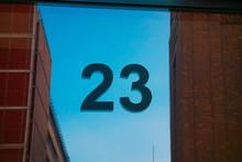 Number 23 Door Sign With Glass...