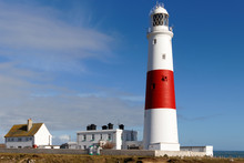 PORTLAND BILL, DORSET/UK - FEBRUARY 16  : View Of Portland Bill Lighthouse On The Isle Of Portland In Dorset UK On February 16, 2018