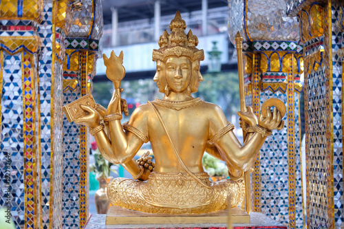 The Erawan Shrine in Bangkok. Thao Maha Phrom Shrine is a Hindu shrine in Bangkok