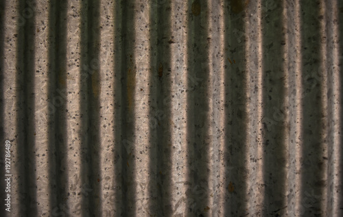 Aluminium Prints Firewood texture Zinc roof background Caused by weather and rain with decay.