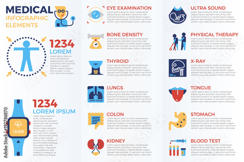 Photo  Medical infographic elements