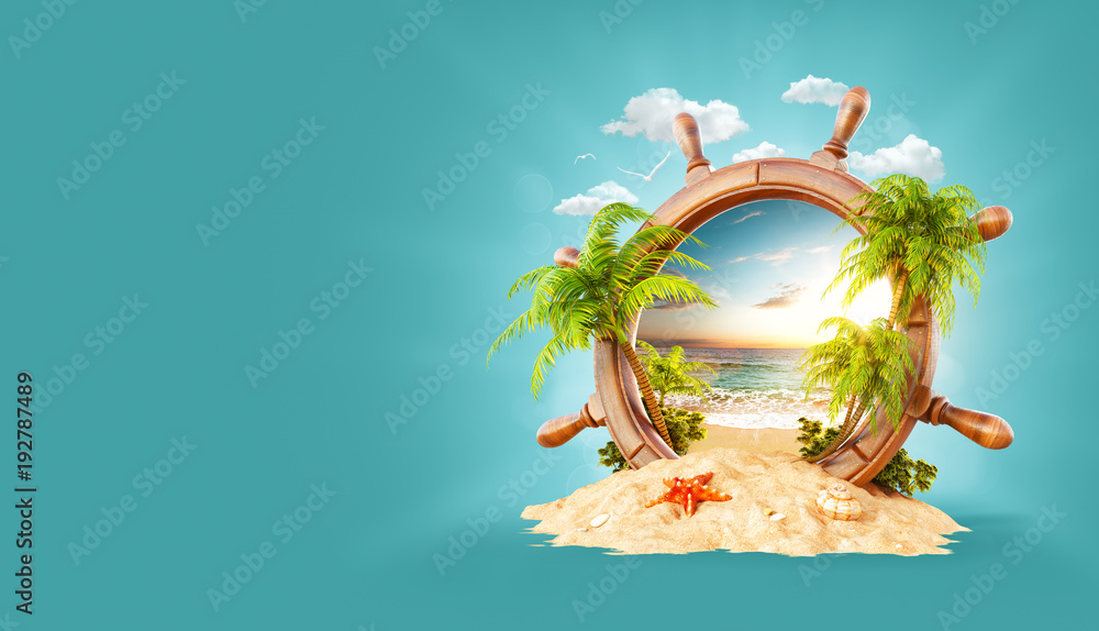 Fototapety, obrazy: Tropical landscape in a helm